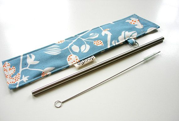 Reusable Straw Bag Candy Cane Zero Waste Reusable Straw Pouch Eco Friendly