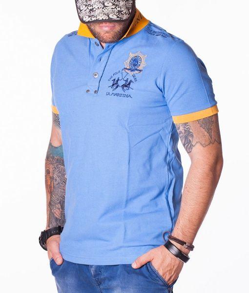 La Martina Tricouri Polo - Windsor Great Park tricou polo albastru