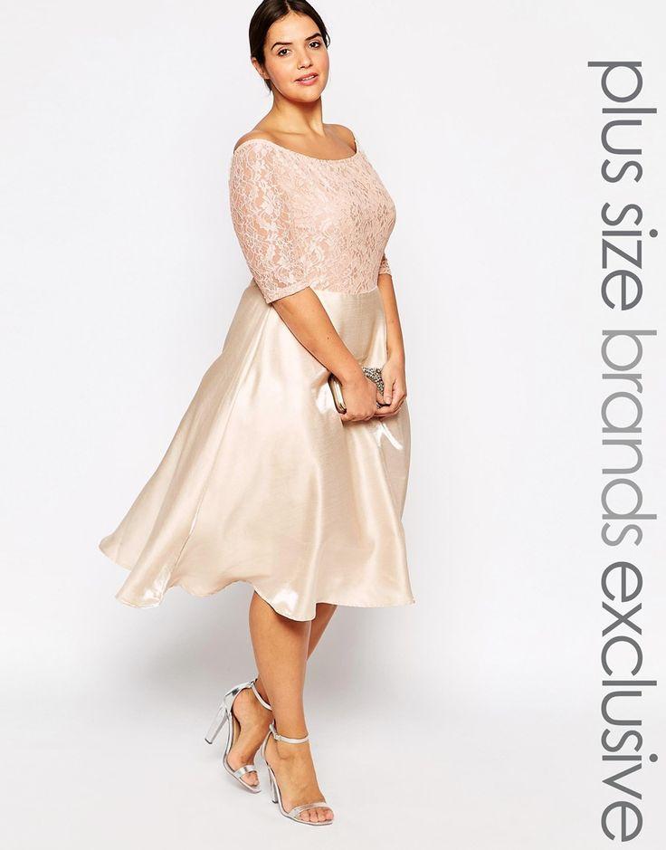 Bild 1 von Truly You Lace – Bardot-Midikleid mit Spitzen