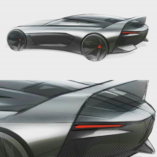Daily #carsketch with some aero coming straight from the #80'... #wing  #cardesign #racecar #extreme #toomuch