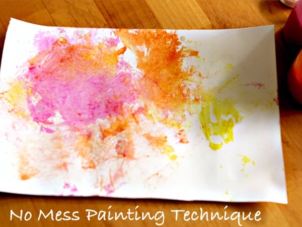 Kid Craft: no-mess painting for kids; #diy #easy #kids #crafts #painting #artCraft Painting, Kids Diy, Easy Kids Crafts, Painting Art, Abstract Art, No Mess Painting, Painting Techniques, Abstract Paintings, Painting Projects