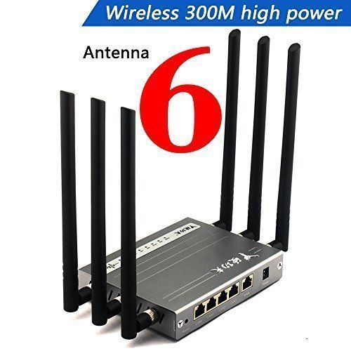 Wireless Router , Wekin High Power Megabit WIFI Router with 6x6dBi Antennas, Super Strong Signal apply to Hotels, Villas, Restaurant and other Large Area, Metal Computer Router - Wekin Wireless Router Long Range super High Power WIFI Router,Is a high-efficiency Wireless Internet for the home Hotels, Villas, Markets and business workplace, Make Your Life Become Convenient!    Specifications: SSID 2 And adjustable output power ACK Timeout It supports PTP and multipoint... - htt