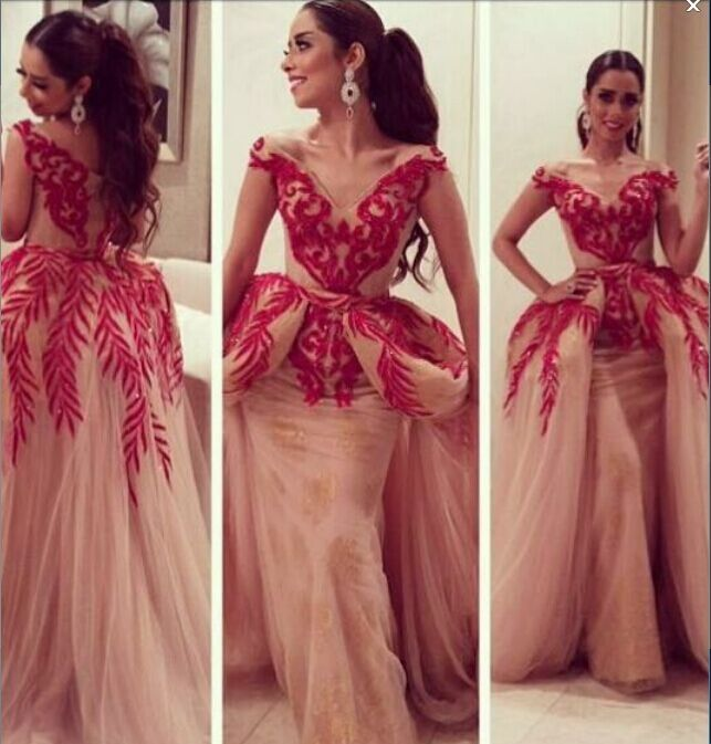 Na Moda Sexy V Pescoço Inchado Trem Longo Vestido de Baile 2016 Bordado Vermelho de Noite Formal Vestidos de Festa Vestido Da Senhora Verão em Vestidos do baile de finalistas de Casamentos & Eventos no AliExpress.com | Alibaba Group