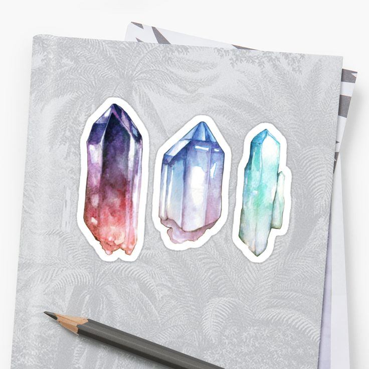 Watercolor painted crystals / ©Sam Nagel / www.samnagelart.com • Also buy this artwork on stickers, apparel, phone cases, and more.