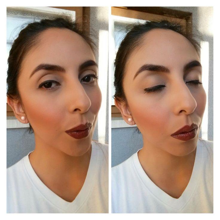 Eye liner and vampy lips