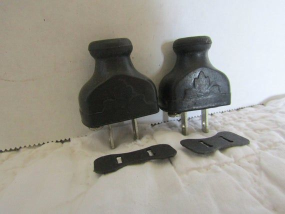 2 Vintage Electrical Plugs Nos Never Used Rubber With Ornate Design On Them Plugs Vintage Design