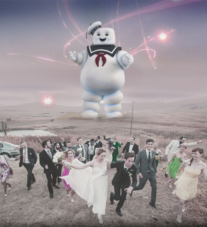 As a concession to my husband's desire for a #Ghostbusters themed #wedding... the #StaPuft man made an appearance! #monster