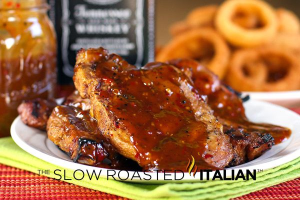 Jack Daniels Double Kick Pork Chops are marinated in a fabulous mixture of Jack and spices.  The spices give these pork chops a little heat, but the whiskey adds such an amazing flavor that you really have to try this recipe!