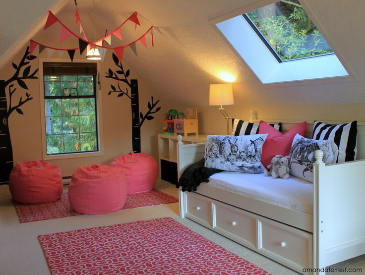 playroom with daybed ...would love a two-story w/ attic for this.