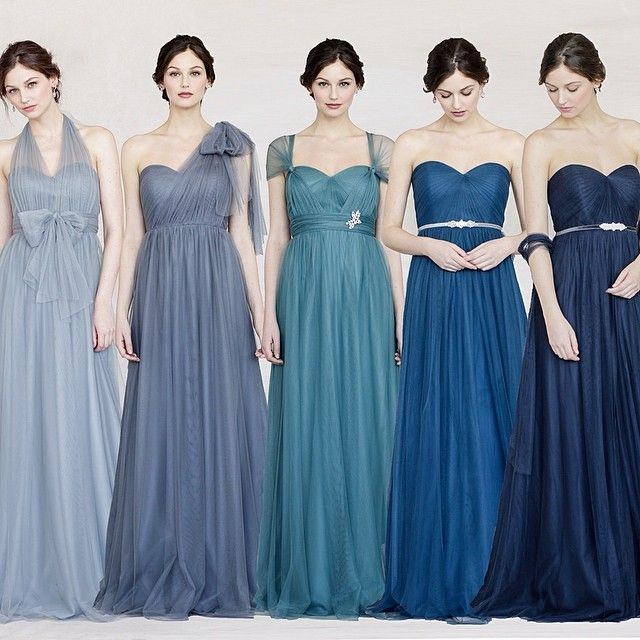 Jenny Yoo Annabelle Dress in Shades of Blue