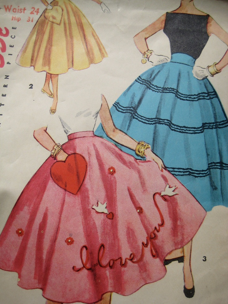poodle skirt applique template - 62 best i am a 50 39 s girl images on pinterest vintage