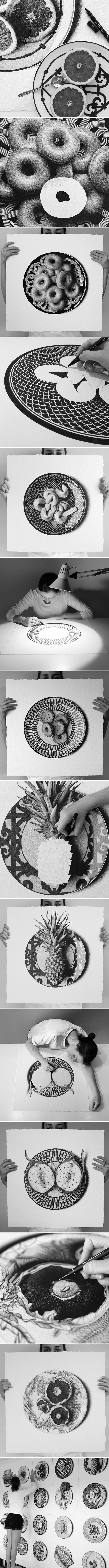 ink drawings by cj hendry