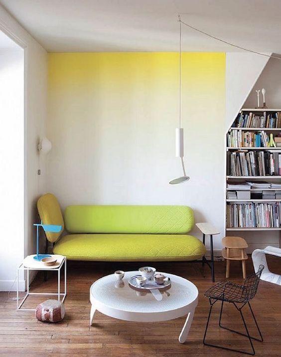 Las mejores ideas para pintar tu mismo tus paredes #degradado #yellow
