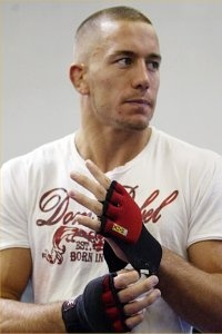 George St. Pierre..My husband's favorite MMA fighter