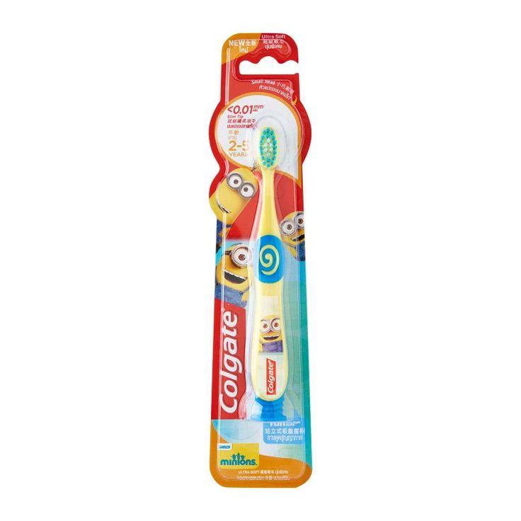 brosse à dent colgate jaune Minion (coeur de Tefiti)