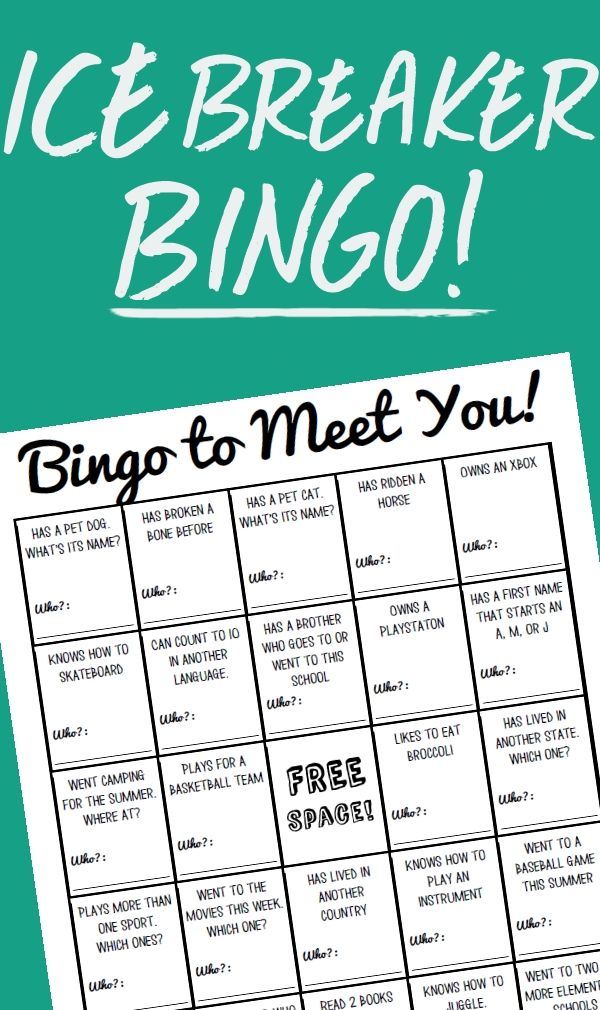 *FREEBIE!* Need a first day activity? Looking for a great way to help your students get to know each other? Here is a fun activity that is designed to get students mingling and finding out about one another.  Using the sheet students will be able to ask interesting questions and learn classmates' names as they seek out to find the perfect people to get them a bingo.  After the first (or first few) bingo, we love to share our answers and see what we can find in common.