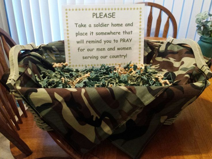 Toy Soldiers In A Basket For Our Church. Reminding Members To Take A  Soldier Home