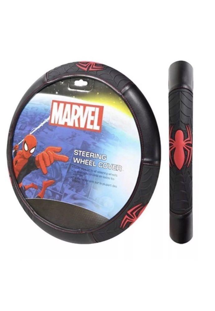 New Marvel Superhero Comics SPIDERMAN Car Truck Steering Wheel Cover #PlastiColor
