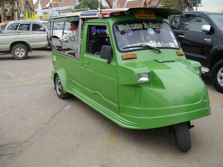 Green tuk-tuk