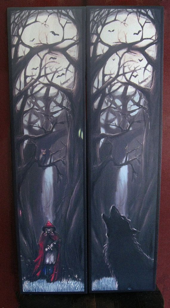 Red Riding Hood Printed Canvas