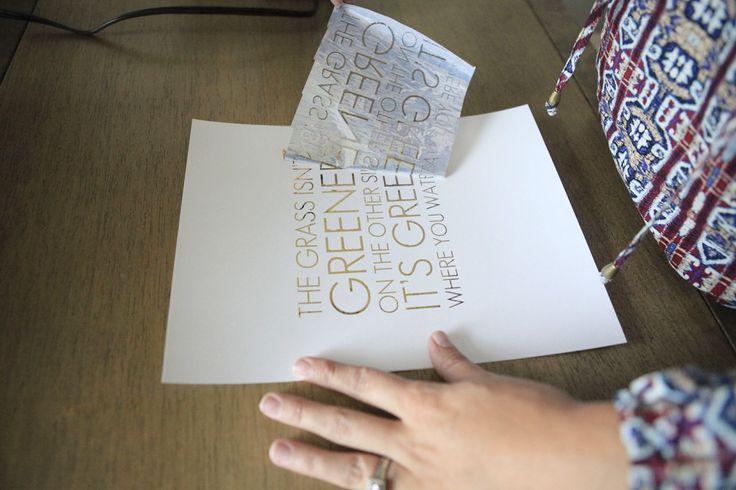 DIY Gold Foil Prints 4