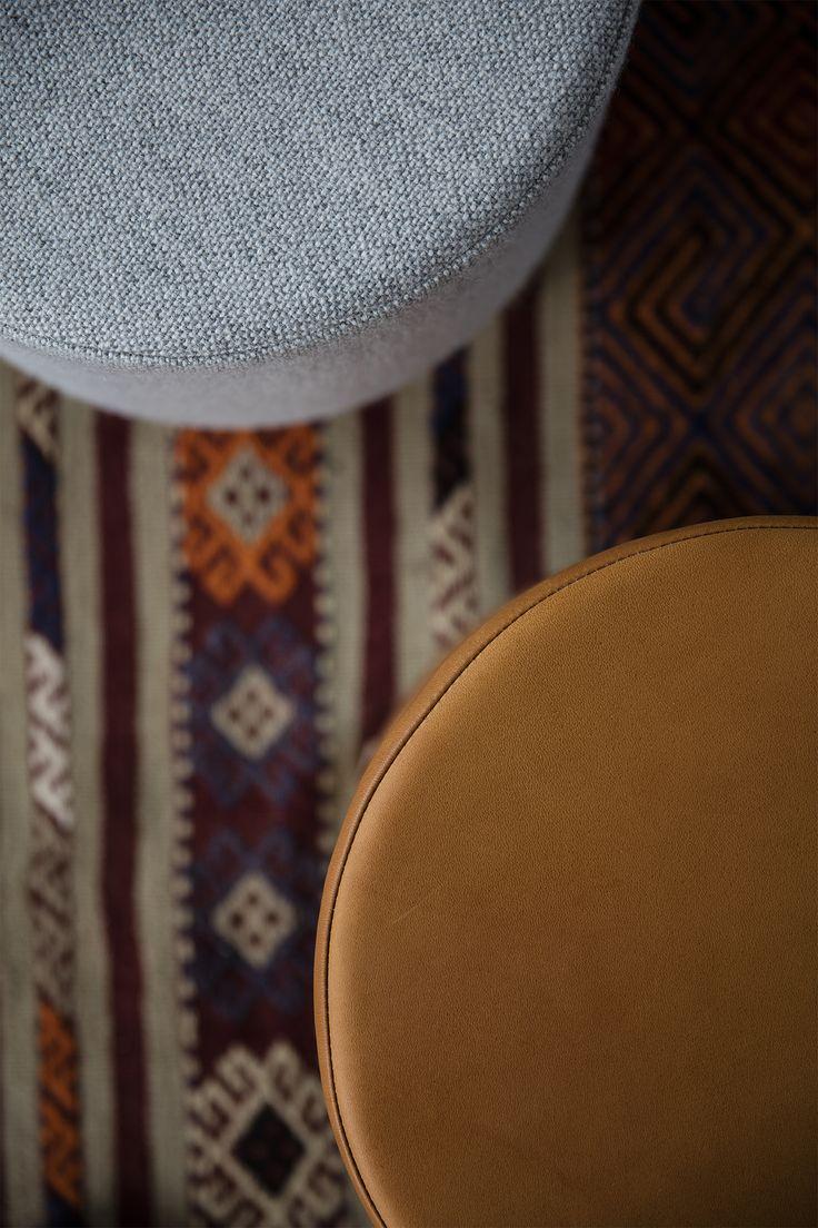 STOOL designed by Anne Boysen #stool #skammel #ottoman #læder #leather #stof #fabric