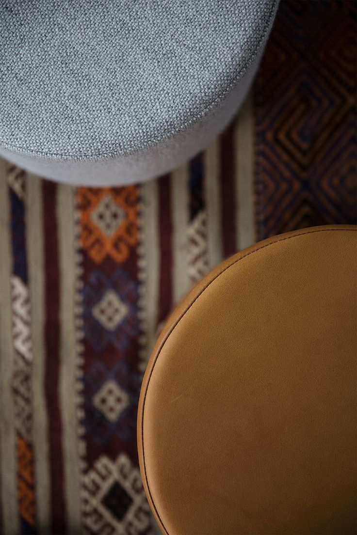 STOOL designed by Anne Boysen #stool #skammel #ottoman #læder #leather #stof #fabric