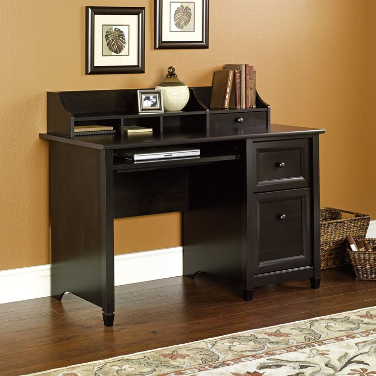 sauder edge water computer desk estate black finish check this awesome product by going to the link at the image