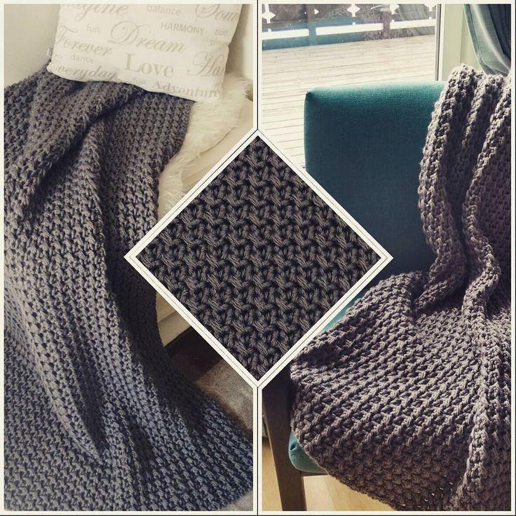 #afghan #blanket #chunkyblanket #chunky #crochetblanket #crochet #hekleteppe #hekling #szydełko #heklekrok #handmade #håndarbeid #rekodzielo #home #hjem #warmandcozy #koseteppe #interiør #interior #wnetrze #wool #ull #throw #pledd #teppe by aleksandrafiske