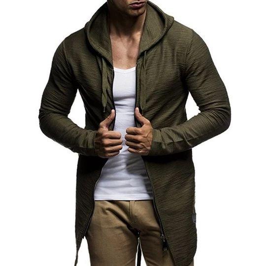 2018 Men Hoodies Camouflage Solid Autumn Winter Drawstring Pocket Hooded Sweatshirt Long Sleeve Zipper Slim Fit Male Casual Coat