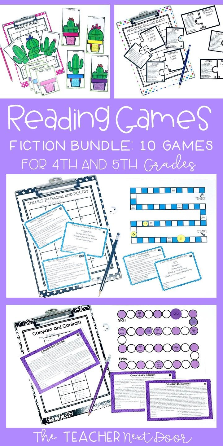 Fiction Reading Games   Reading Centers   library   Reading