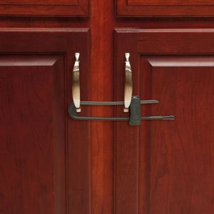 Keep kids out of off-limits cabinets. Safety 1st's Double Door Slide Lock won a @SheKnows Parenting Award this year in the Safety Latches and Covers category! #safety1st