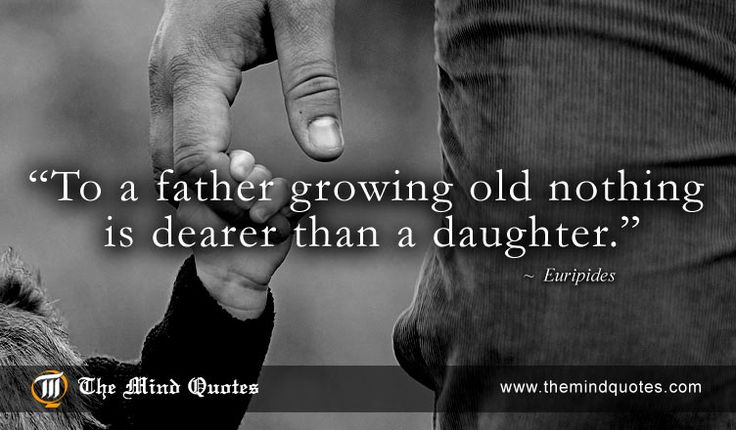 """themindquotes.com : Euripides Quotes on Father's Day and Age""""To a father growing old nothing is dearer than a daughter."""" ~ Euripides"""