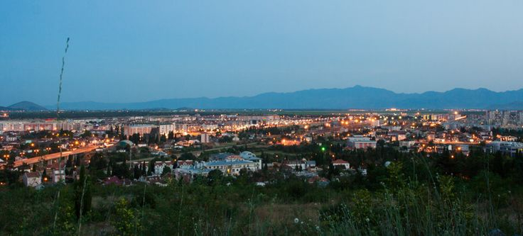 Podgorica after sunset   Podgorica po západu slunce
