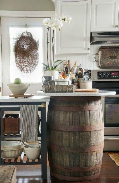 17 meilleures id es propos de cuisines rustiques sur for Armoire de cuisine rustique