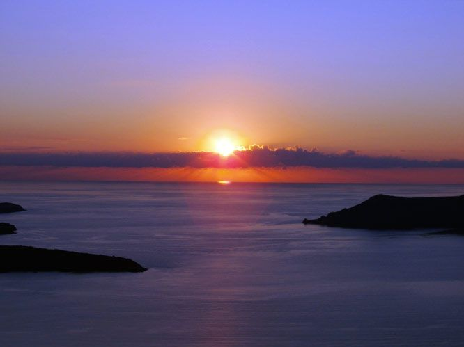 #Santorini's magical sunset is the ideal setting for the most romantic getaway you have ever experienced.