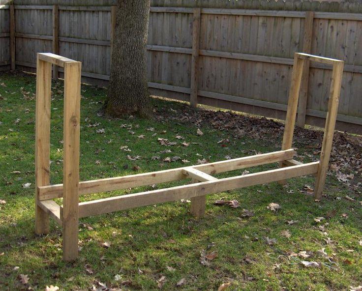 wooden firewood rack plans