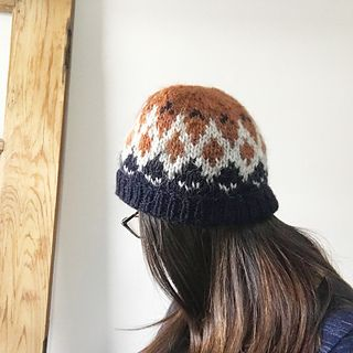 Firn was developed in inspiration of the traditional Icelandic Lopapeysa we all know and love! Try knitting this in your left over Lopi yarn for an incredibly warm hat for the coldest days!
