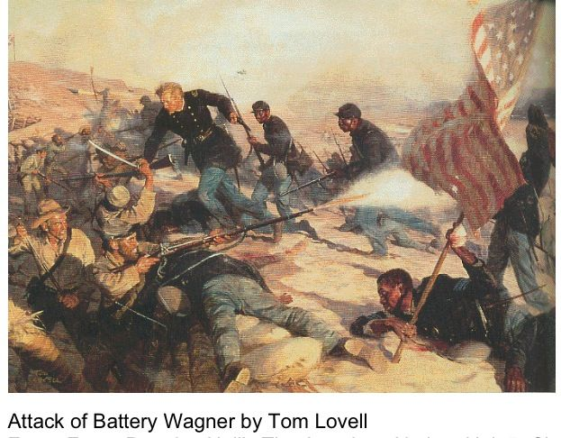 Quot Attack Of Battery Wagner Quot Civil War Art Tom Lovell
