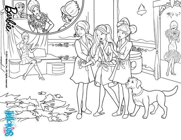 Coloring Pages Barbie Princess Charm School : Best images about coloring book pages on pinterest