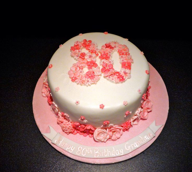 17 Best Images About 80th Birthday Cakes On Pinterest