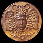 Ancient Greek sculpture Medusa Gorgon Μέδουσα. Rust Finish. Wall plaque 1.1 m