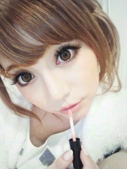 Sweet, innocent makeup #gyaru #cute #kawaii