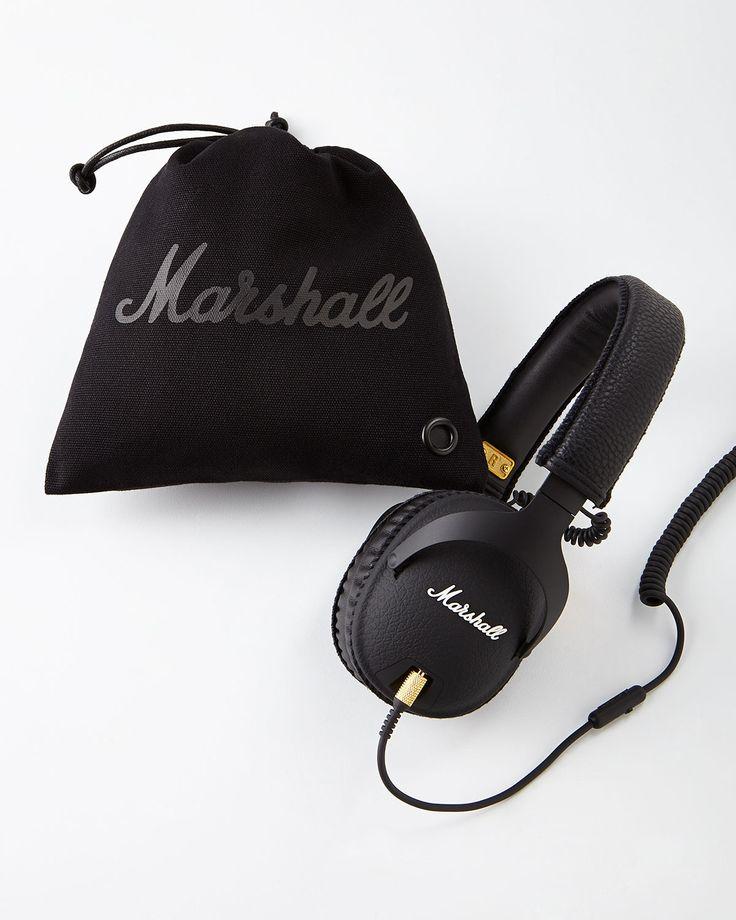 Marshall Monitor Over-Ear Headphones, Black - Neiman Marcus