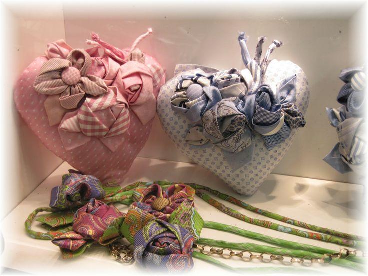 cuori e fiori di stoffa cucito creativo Pinterest