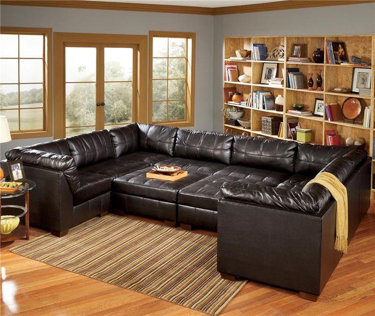San Marco 10 Piece U-Shaped Sectional by Signature Design by Ashley - Lapeer Furniture u0026 Mattress Center - Sofa Sectional Flint Michigan | Pinterest ... : 4 piece leather sectional sofa - Sectionals, Sofas & Couches
