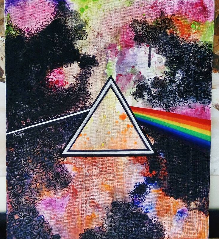 """Pink Floyd Art by Aashna Aasif. """"All you touch and all you see, is all your life will ever be"""" Breathe"""