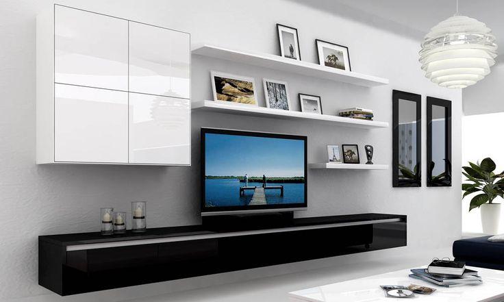 Good floating shelf layout - SydneySide Furniture