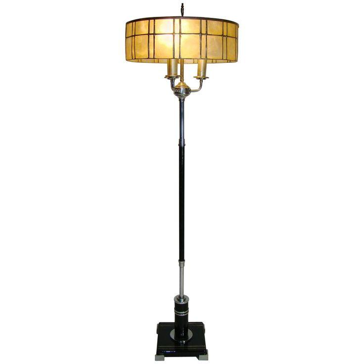 Black floor lamp 25 pinterest american art deco chrome black floor lamp circa 1920s mozeypictures Image collections