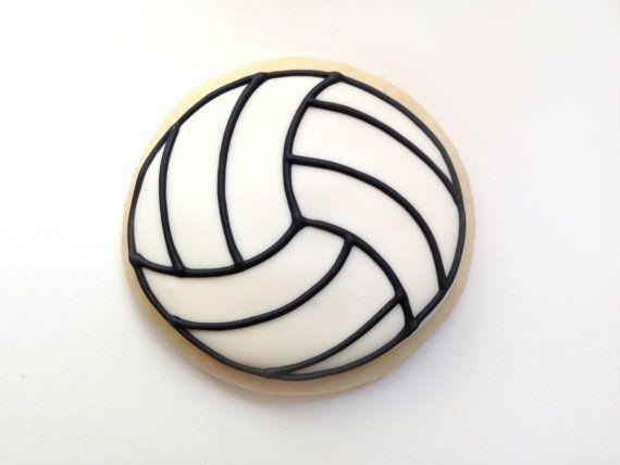 Voleibol favores / regalos voleibol / voleibol decoraciones / regalos para el entrenador de voleibol / voleibol galletitas - 12 galletas